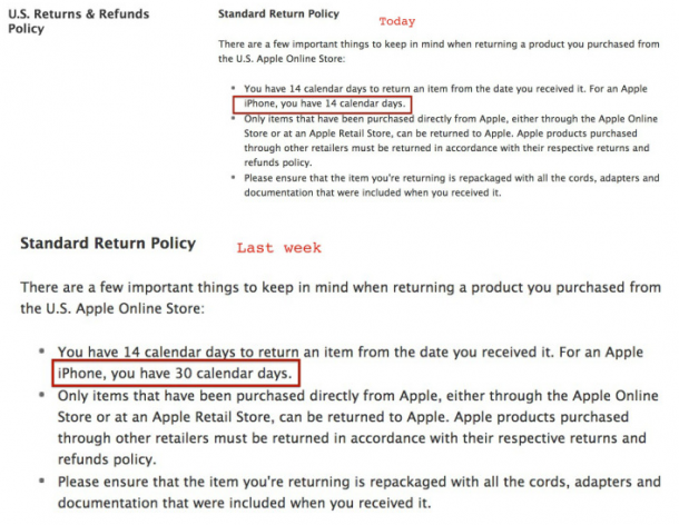 Apple policy