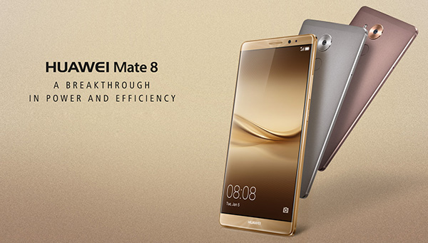 The Huawei Mate 8 smartphone
